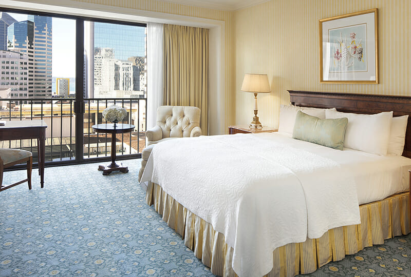 Westgate Premier room with downtown views.